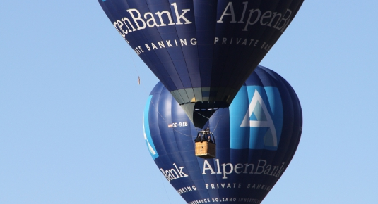 Ballonfahrt in Mieming, Tirol