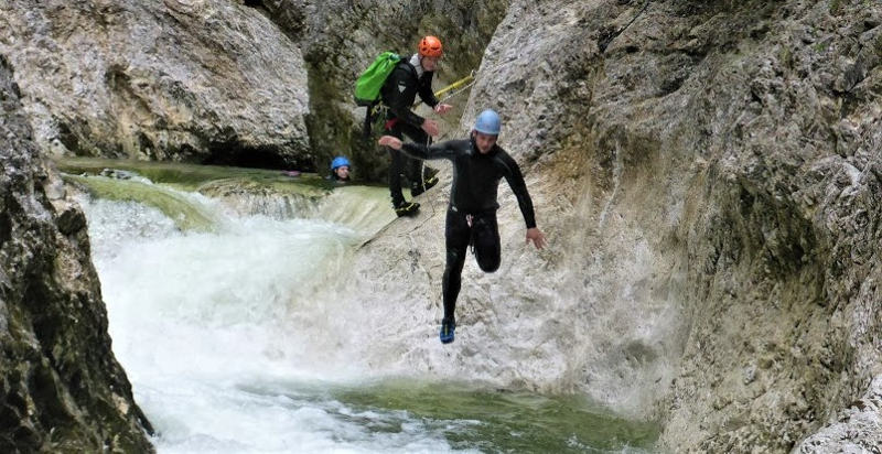 canyoning schnuppertour attersee