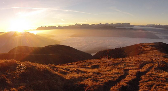 Hike and Fly Tandem Sonnenaufgang Suedtirol